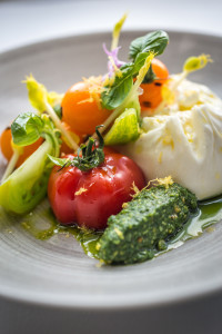 The Ivy burrata with Sicilian tomatoes, fried zucchini flower, rocket pesto by David Griffen HR (3)