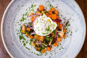 100 Wardour St_Sweet potato hash, shiitake, slow cooked egg